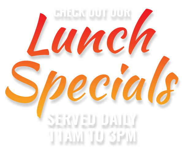 Check out our daily lunch specials - served 11am to 3pm
