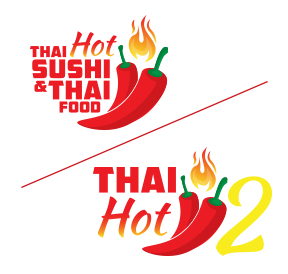 Thai Hot Sushi and Thai Food Logo